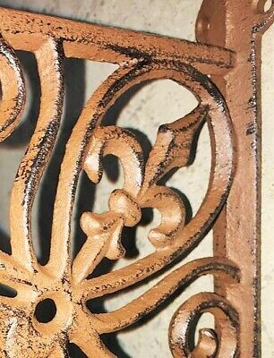 Fleur De Lis Plant Hanger, brown bronze finish, flower basket pot lantern hook 8