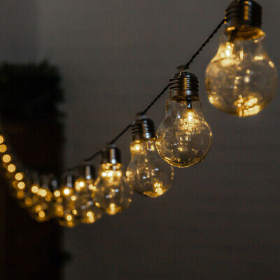 Outdoor String Lights 30 Solar Power Retro Bulbs LED Garden Party 6.35m Solaray™ 2
