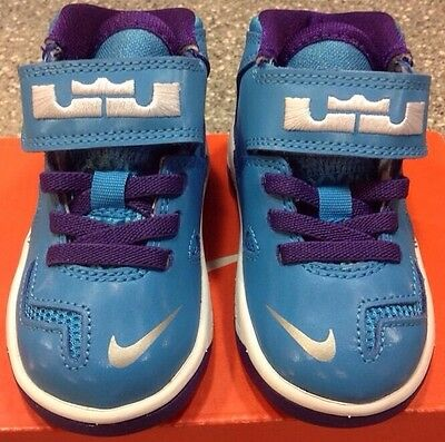 new concept 1a9fd 92788 ... cheapest new nike lebron soldier 7 blue purple sz 5c baby toddler boy  or girl freeship