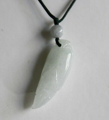 Gemstone Natural Grade A Light Green Jadeite JADE (Small Corn) Pendent #P682 2