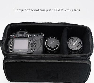 Camera Bag Padded Insert Carry Case Partition For DSLR SLR Canon Nikon Sony Lens 8