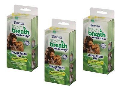 TropiClean Clean Teeth Gel For Dogs Promotes Strong Teeth & Healthy Gums 4 oz 5