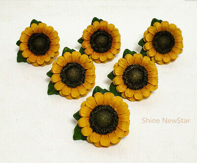 Ordinaire ... Sunflower Vintage Kitchen Resin Cabinet Knobs Drawer Pulls Country Home  Decor 3
