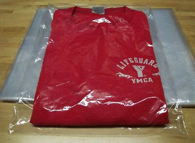"100 - 9"" x 12"" Clear Poly T- Shirt Plastic Apparel Bags 2"" Flap *BEST QUALITY* 3"