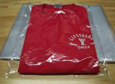 "9"" x 12"" Poly Clear Plastic T-Shirt Apparel Bags 1 Mil 2"" Back Flap Lock 10-1000 7"