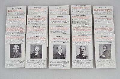Citaten-Quartett Damenspende Verein Berliner Presse - Ballfest 1904 - Original