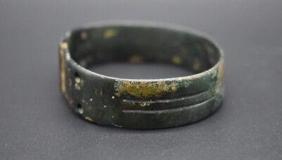 Ancient Bactrian bronze decorated bracelet C. 500 BC 4