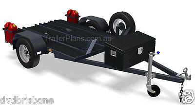 Trailer Plans - 2500kg FLATBED, BOX & MOTORBIKE TRAILER PLANS - Plans on CD-ROM 8