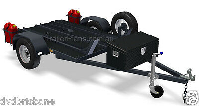 Trailer Plans - MOTORBIKE TRAILER PLANS - 3 Bike Design 7x5ft - PLANS ON CD-ROM 3