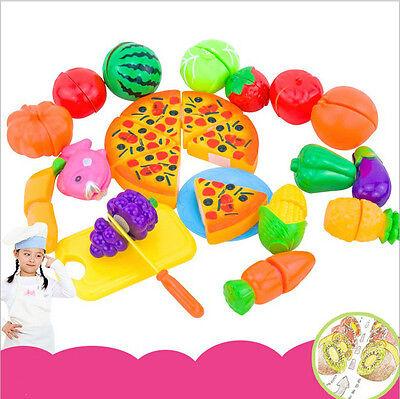 24 Pcs Kids Pretend Role Play Kitchen Fruit Vegetable Food Toy Citting Toys Jduk