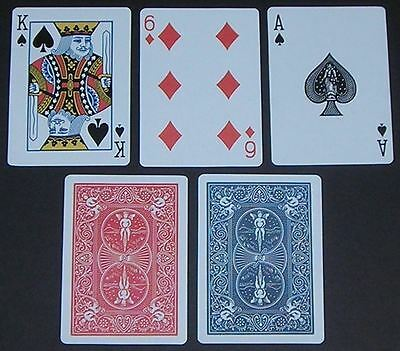 2 x Bicycle Playing Cards Decks 1 Red & 1 Blue Casino Poker Snap Family Games 3