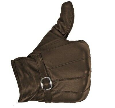 Ladies Leather Gloves Women Real Soft Fleece Lined Winter Casual Driving Warm 7