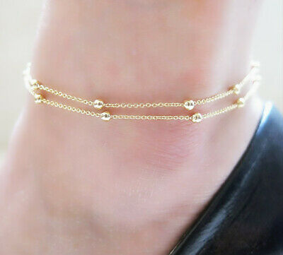 17+ Styles Gold Anklet Ankle Bracelet Foot Chain Heart Beads Pineapple Rope 4