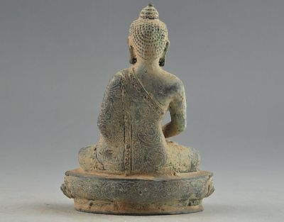 Old Handwork Copper Carving 3 Buddha Rare Exorcise Efficacious Big Statue