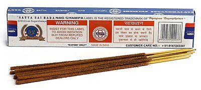 3 Packs Original Satya Sai Baba Nag Champa Incense Sticks  Joss Insense Genuine 3