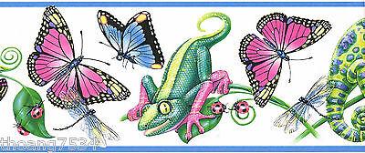 pink butterfly lizard ladybug dragonfly gecko leaf blue