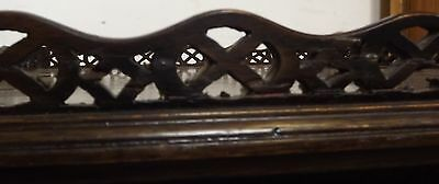 Antique Victorian Decorative Mahogany Silver Occasional Table Fretwork Gallery 8
