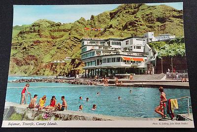 Postal Bajamar Tenerife Hotel Nautilus Piscinas Islas Canarias Postcard  Cc03716