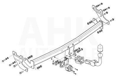 Für Hyundai i10 II IA//BA 5-Tür 14-17 Kpl Anhängerkupplung starr+E-Satz 7p