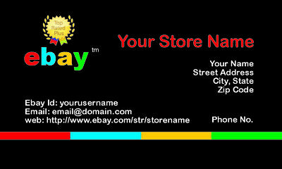 500 EBAY SELLER Personalized Business Cards-FREE SHIPPING-Glossy or Matte 9