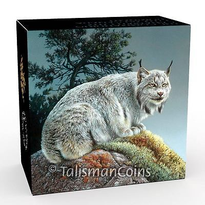 Pure Silver Color Proof 2016 $20 Majestic Animal Series Commanding Canada Lynx