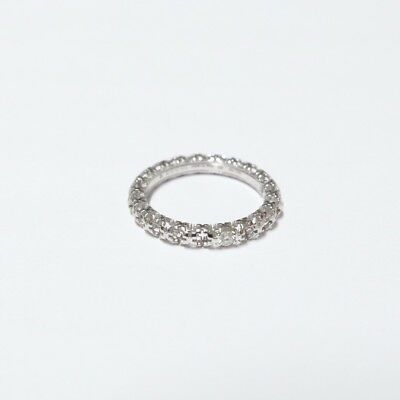060bbc99e ... GUCCI Diamantissima Diamond Band Ring in 18K White Gold Size 18 US 8 1/4
