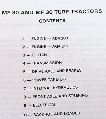 Massey ferguson mf 30 30t tractor backhoe loader service repair 1 of 7free shipping massey ferguson mf 30 30t tractor backhoe loader service repair workshop manual fandeluxe Choice Image
