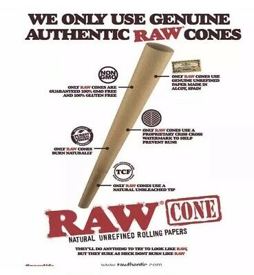 RAW Classic 98 special Size Pre-Rolled Cones (100 Pack) 100%AUTHENTIC 3