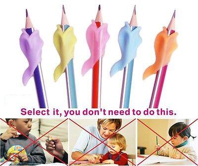 Children Pencil Holder Writing Hold Pen Wobi Grip Posture Correction  Tool x 4 7