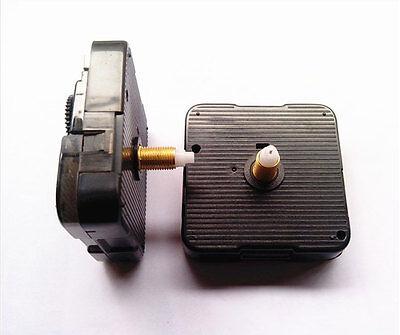 """(#019) Quartz Clock movement 1/2"""" thread LONG SHAFT quiet motor & black 5"""" hand 2"""
