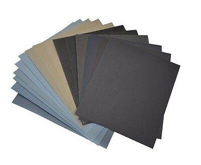 SANDING SHEETS Wet/Dry Silicon Carbide Waterproof Sandpaper Grits 9x11 5.5x9 USA 4