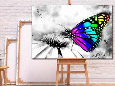 Leinwandbild Kunst-Druck 100x50 Bilder Tiere Bunte Schmetterlinge