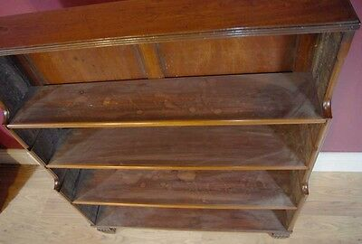 Pair English Regency Open Book Cases Bookcase Mahogany 6