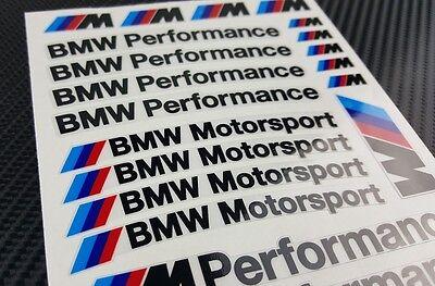 Mpower decal set 53 stickers wheel rim bmw performance Motorsport 3 5 7 series 5