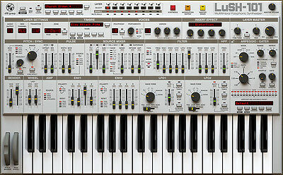 D16 Group LUSH-101 Virtual Roland SH-101 JP Synthesizer Software Plug-in NEW
