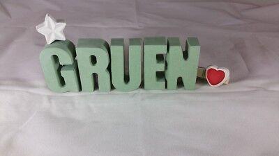 Steinguss Buchstaben 3D Deko Jungen Namen H als Geschenk verpackt! Beton