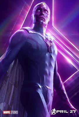 AVENGERS: INFINITY WAR Character Poster Hulk Iron Man Captain America A5 A4 A3 10