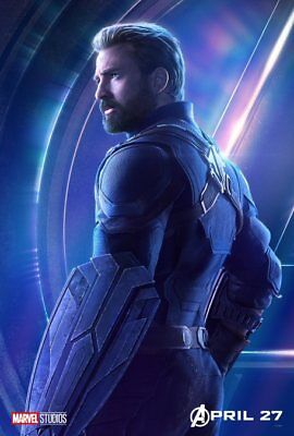 AVENGERS: INFINITY WAR Character Poster Hulk Iron Man Captain America A5 A4 A3 4