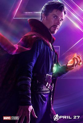 AVENGERS: INFINITY WAR Character Poster Hulk Iron Man Captain America A5 A4 A3 11