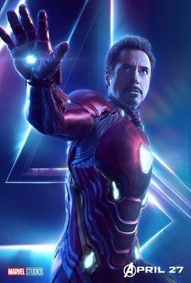AVENGERS: INFINITY WAR Character Poster Hulk Iron Man Captain America A5 A4 A3 5
