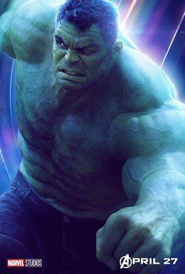 AVENGERS: INFINITY WAR Character Poster Hulk Iron Man Captain America A5 A4 A3 6