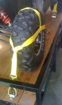 Wheel Rim Tire Bonnet Tie Down Ratchet Strap Atv Sxs Utv