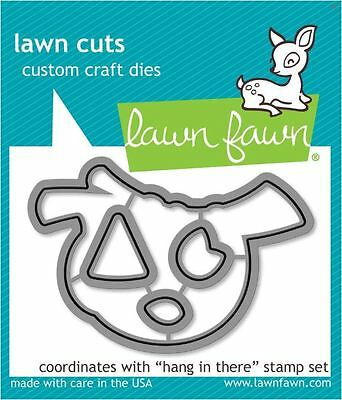 Sloth  ~LF1311 Lawn Fawn Clear Stamp /& Die Combo ~ HANG IN THERE LF1312
