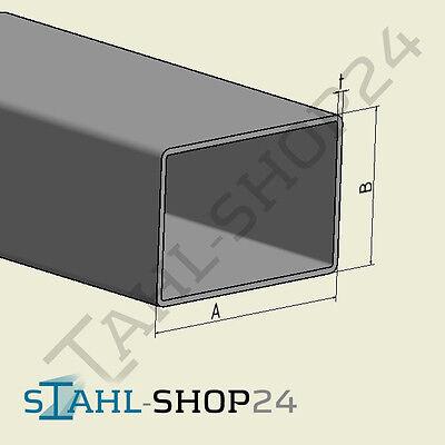 Aluminium Rechteckrohr Alu Vierkantrohr Aluminiumprofil Hohlprofil 2