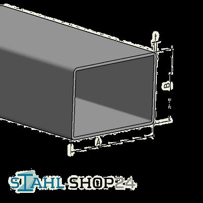 STAHL-SHOP24 Rechteckrohr Stahlrohr Hohlprofil Profilrohr Vierkantrohr Stahlrohr 2