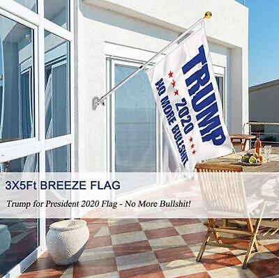 3x5 Ft Trump 2020 No More BS President Donald MAGA Flag US White 4