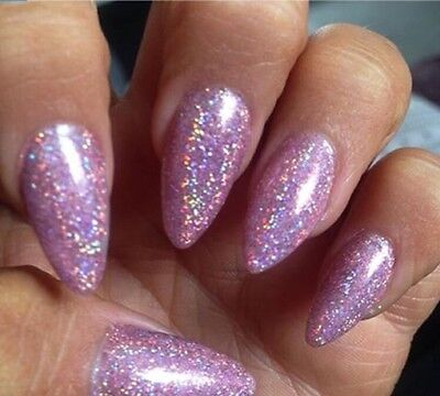 1 Of 3FREE Shipping LILAC HOLOGRAPHIC NAIL POWDER 2g RAINBOW Glitter Effect Ultra Thin Dust Holo UK