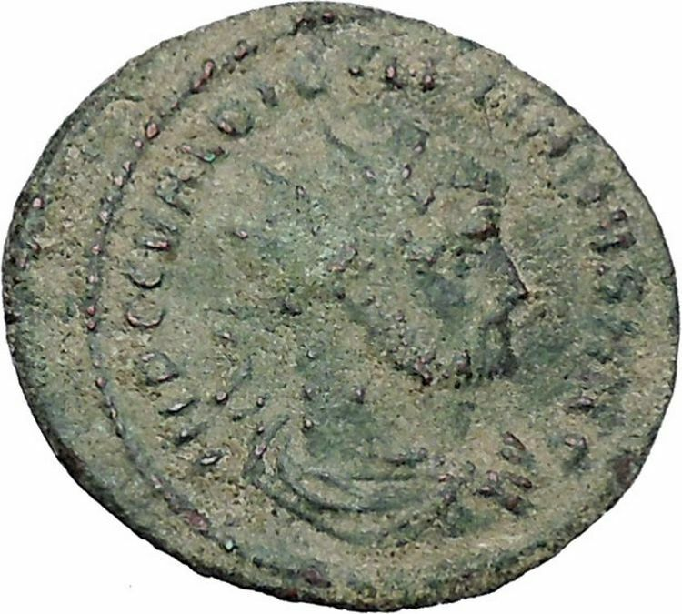 DIOCLETIAN receiving Victory on globe from  JUPITER  Ancient Roman Coin  i47020 2