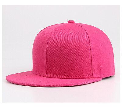 Snapback Baseball Cap Plain Hip Hop Retro Classic Vintage Funky Golf Flat Hat 6