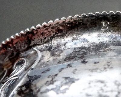 RUSSIAN Hallmarks ? STERLING SILVER Antique NAPKIN RING w/ GOLD VERMEIL WASH 7